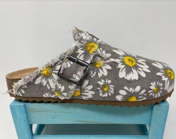 Picnic Slip On Shoe - Gray Floral