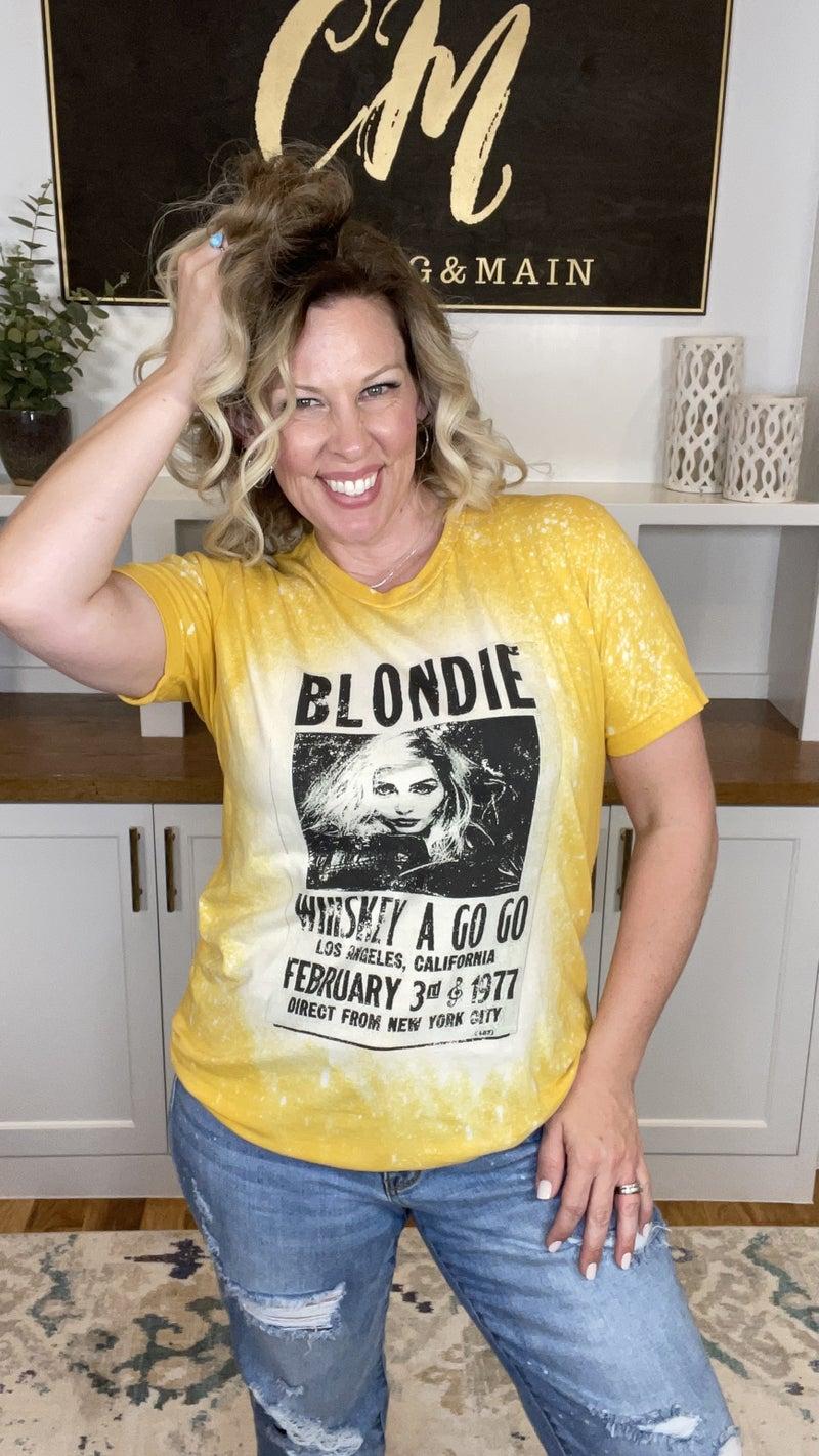 Blondie Bleach Splattered Tee