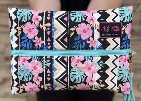 Makeup Junkie Hawaiian Floral Makeup Bag