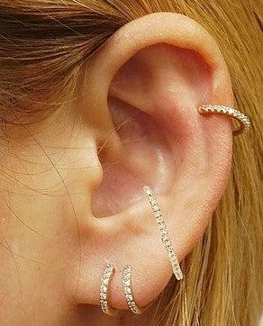 Assorted Hoop Earrings Ear Cuff Set