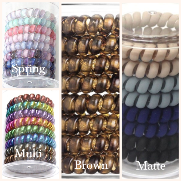 Coil Hair Ties - 8 Pieces