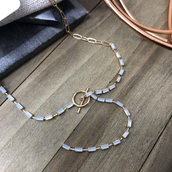 Baguette Y-Necklace