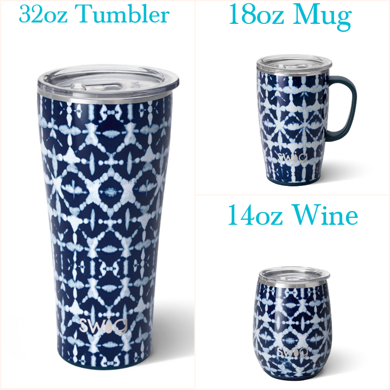 Indigo Isles - 14oz Wine, 18oz Mug, 32oz Tumbler