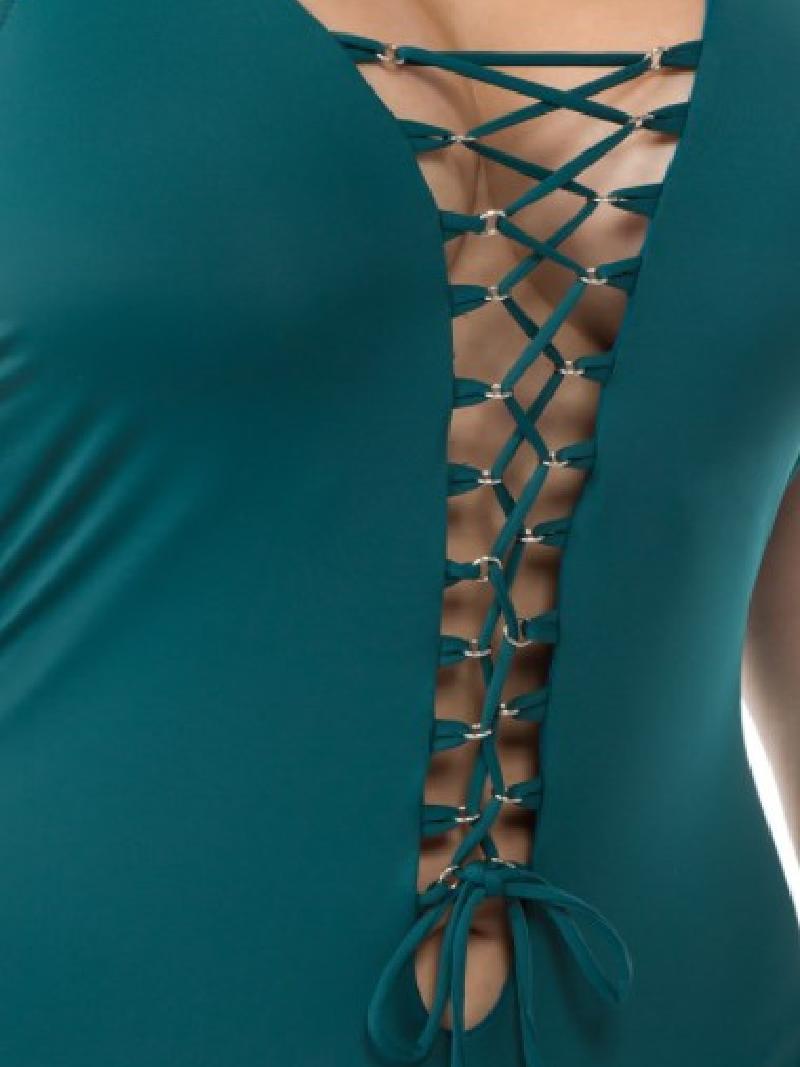 PLUS Sexy Corset Tie Swimsuit