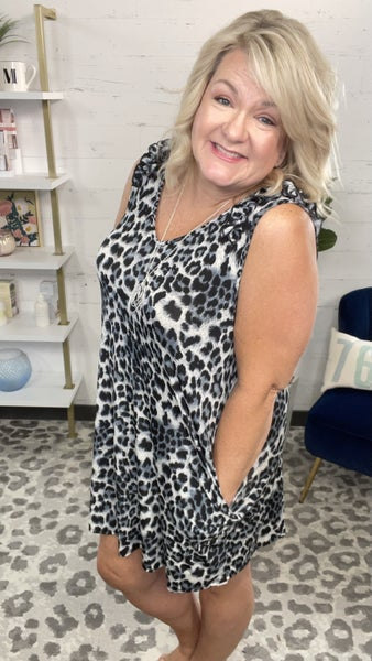 Hey Good Lookin Sleeveless Leopard Dress