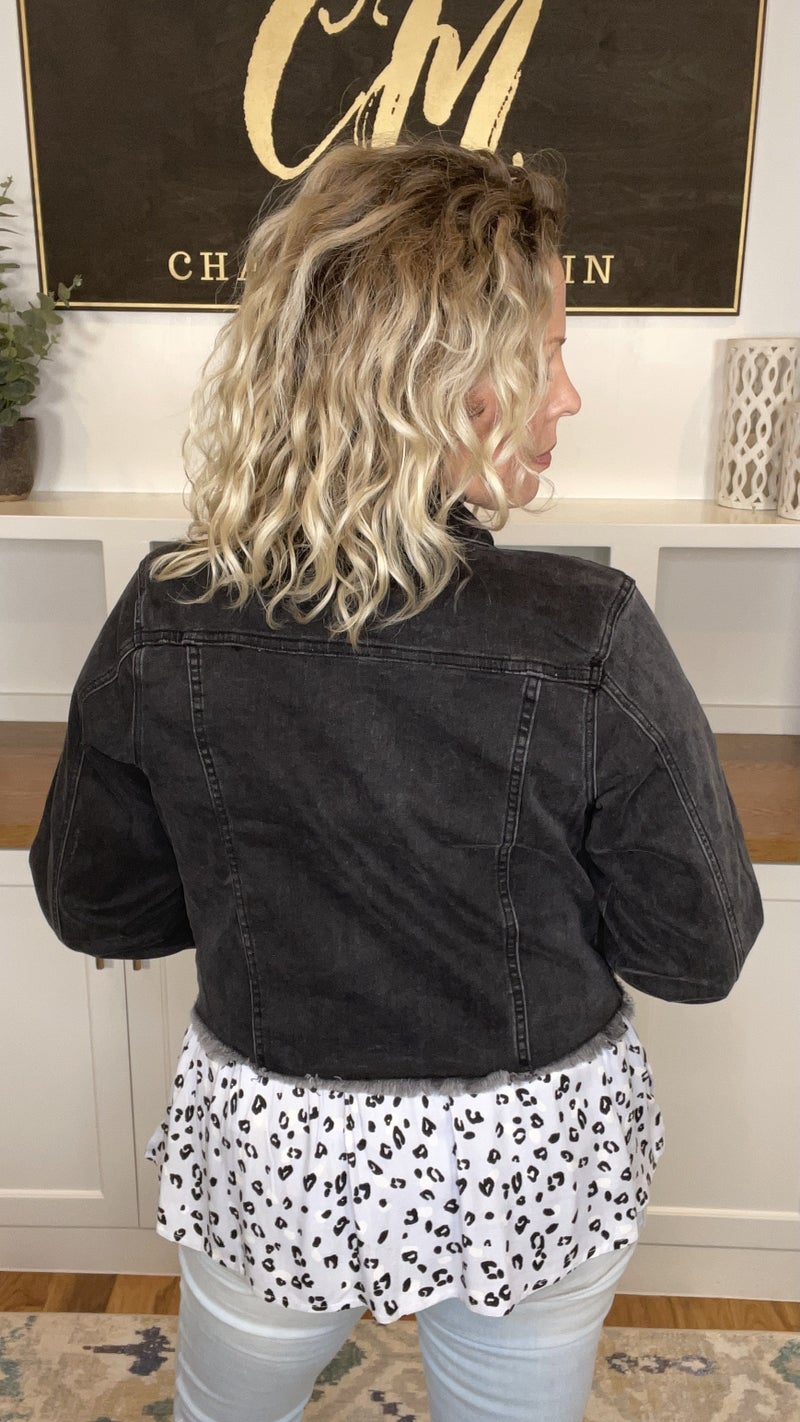 Against the Odds RISEN Black Vintage Washed Denim Jacket