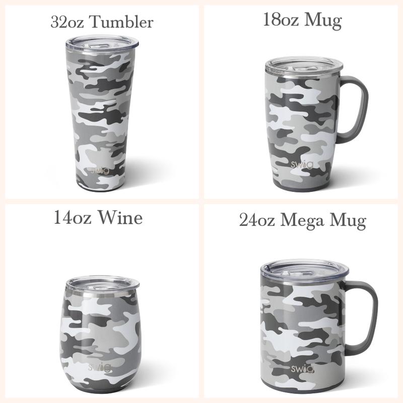 Incognito Camo -  14oz Wine, 18oz Mug, 24oz Mega Mug, 32oz Tumbler
