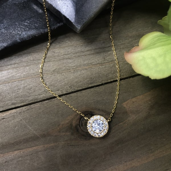 Timeless Round Bling Necklace