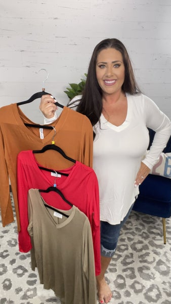 DOORBUSTER! Lovely Luxe Rayon Long Sleeve Top