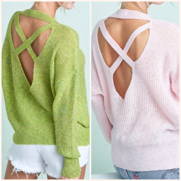 Luxe Cross Back Sweater