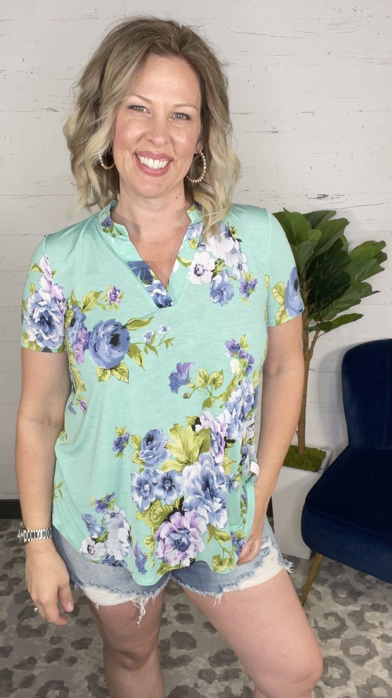 Flirty Floral Short Sleeve Gabby