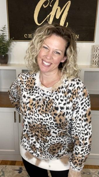 Cheetah Tie-Dye Crewneck Sweatshirt