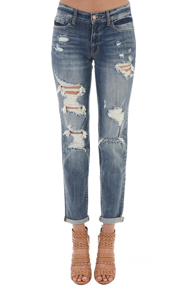 Sweet Imperfections Judy Blue Destroyed Boyfriend Jeans