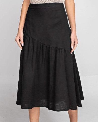 High Waisted Flounce Skirt