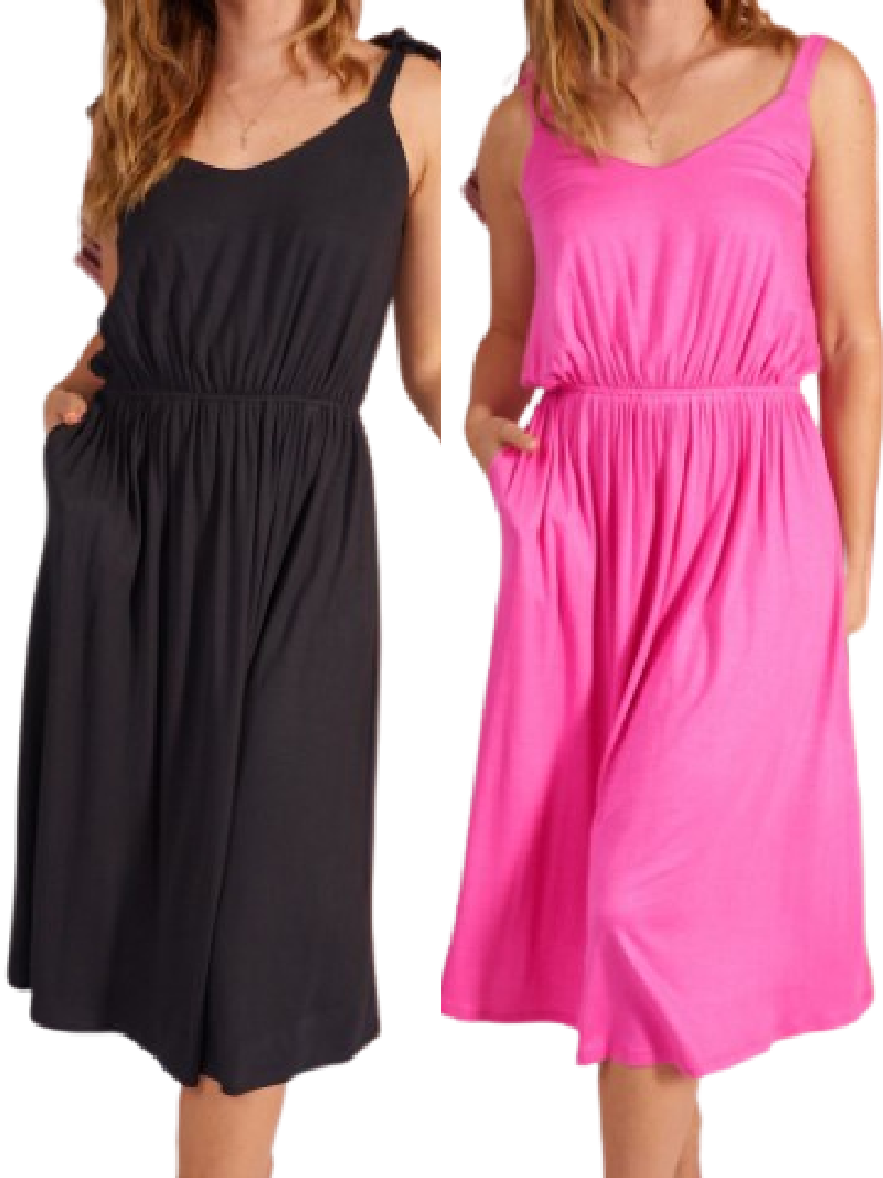 Knit Sweetheart Dress (2 colors)