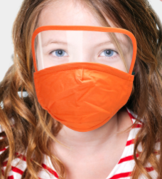 Kids Face Mask with Eye Shield **FINAL SALE**