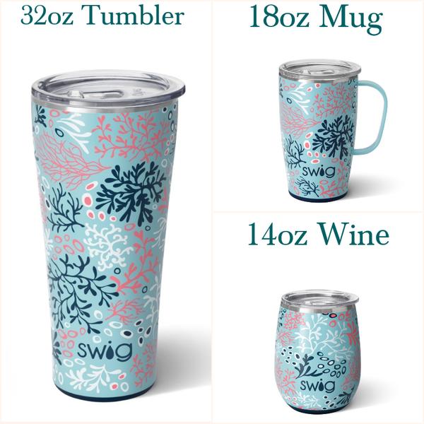 Coral Me Crazy - 14oz Wine, 18oz Mug, 32oz Tumbler