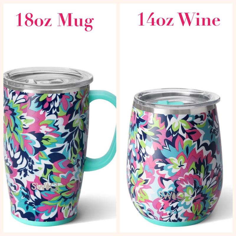 Frilly Lilly- 14oz Wine & 18oz Mug