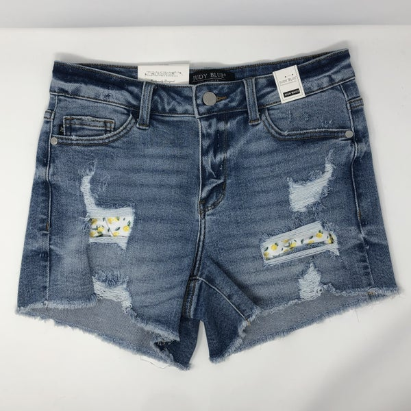 Lemon Patch  Judy Blues Destroyed Shorts