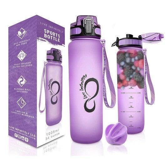 34oz Timeline Marked Sports Water Bottle