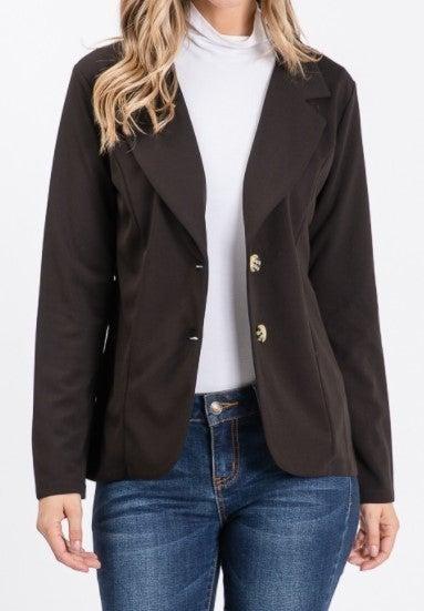 Button Up Tailored Blazer