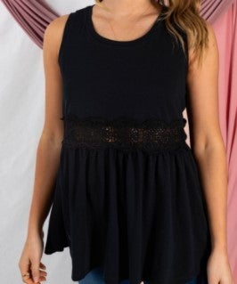 Lace Trim Baby Doll Top