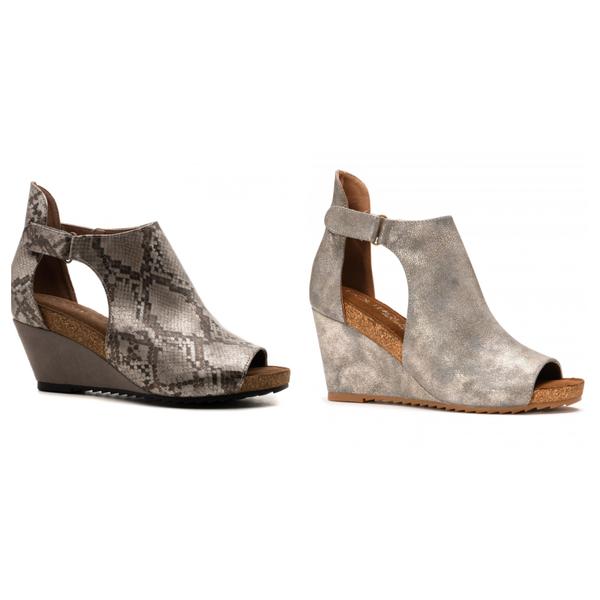 Corky's Metallic  Wedge Sandal