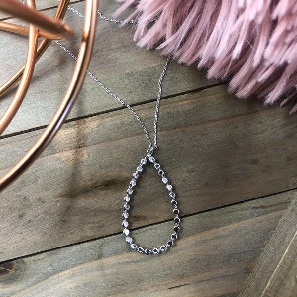 Open Drop Pendant Necklace
