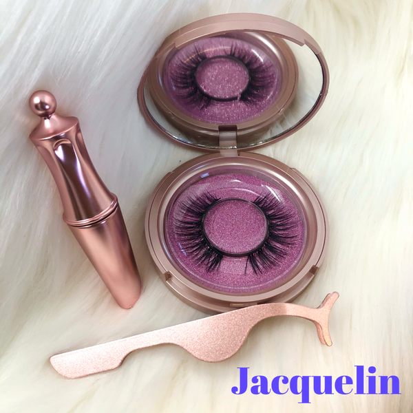 Magnetic Lashes Single Pair with Liner and Case