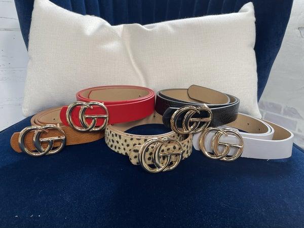Designer Inspired Leatherette Belt
