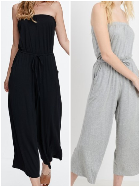 Casual Tube Culotte Jumpsuit