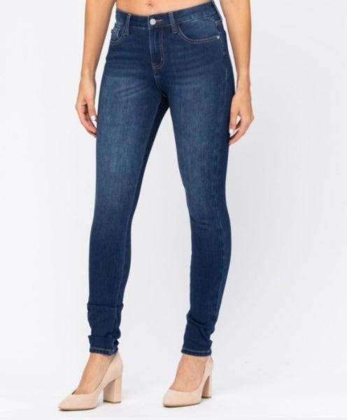 No Regrets Judy Blue ThermaDenim Skinny Jeans