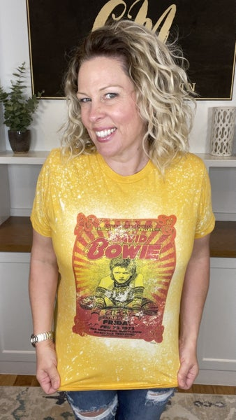 David Bowie Bleach Splattered Tee