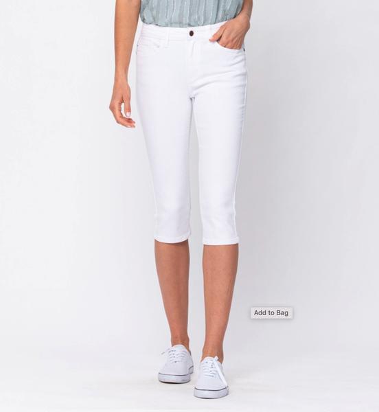 Endless Summer Judy Blue White Capri Jeans