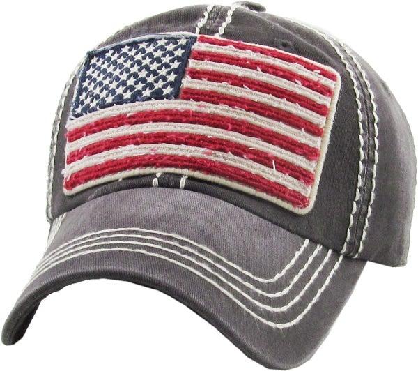 American Flag Vintage Ballcap