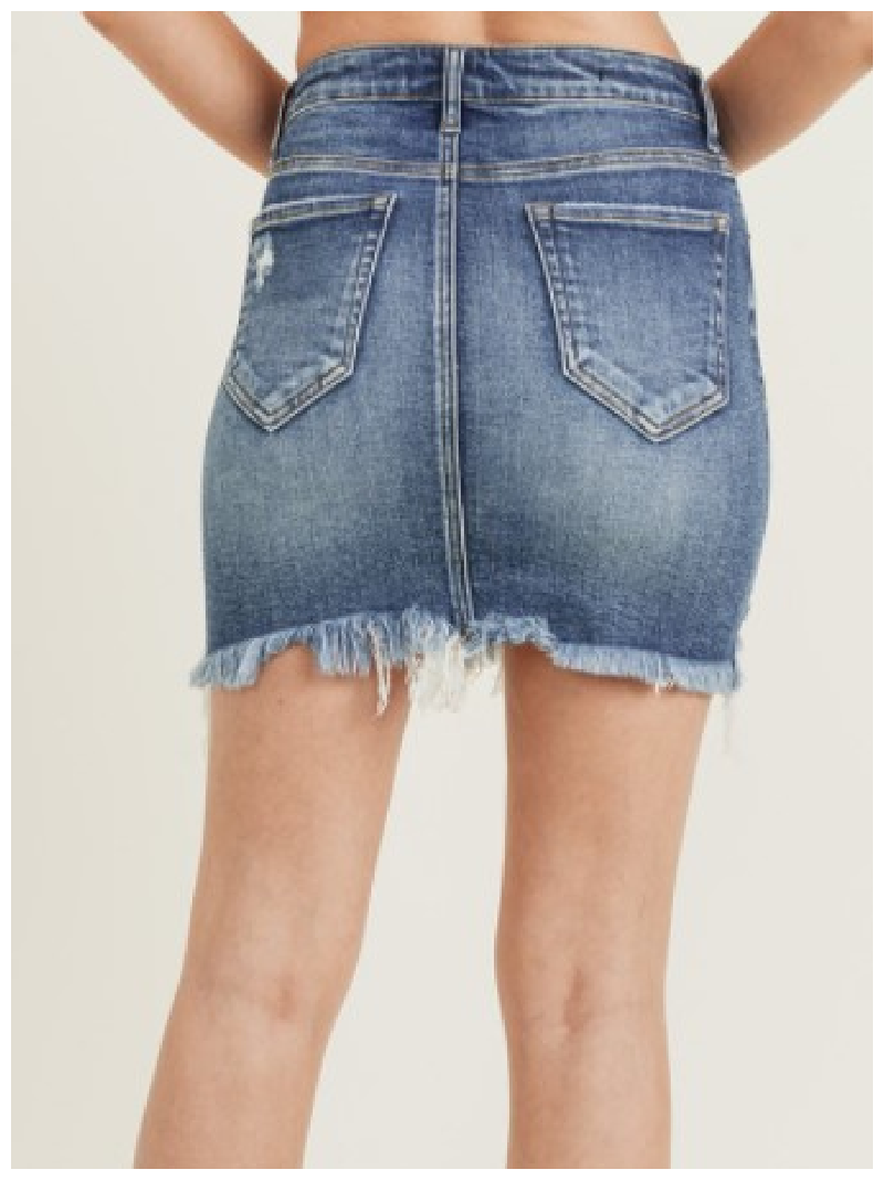 High Roller RISEN Distressed Mini Skirt