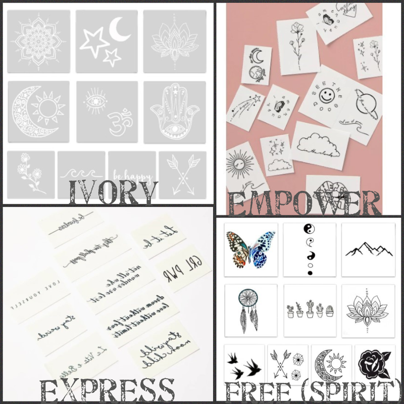 Temporary Tattoo Packs