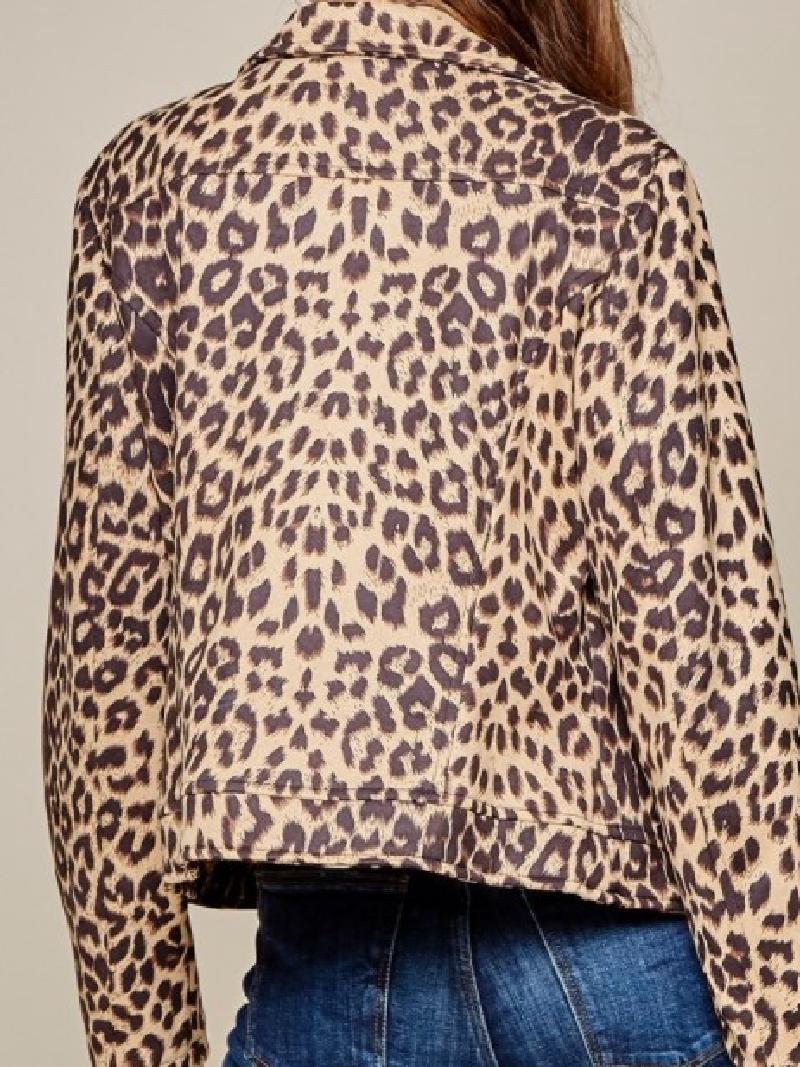 Ain't Your Baby Leopard Moto Jacket