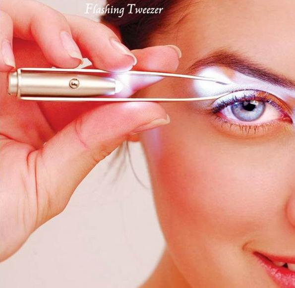 Eyebrow Tweezers with Light