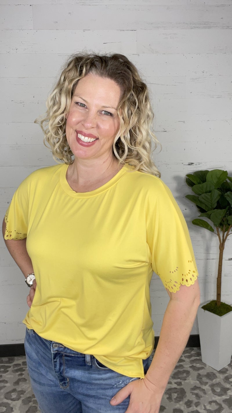 Into the Groove Scoop Neck Top (2 colors)