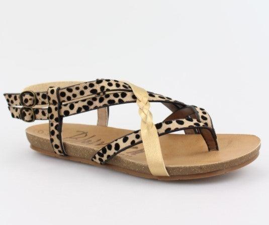 Blowfish Gineh Sandal - Leopard Gold