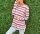 Casual Stripe Hoodie