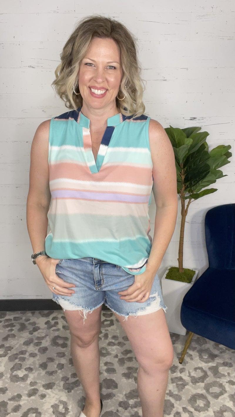 Perfect Summer Stripes Sleeveless Gabby