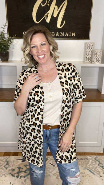 Love Me Some Leopard Short Sleeve Cardigan