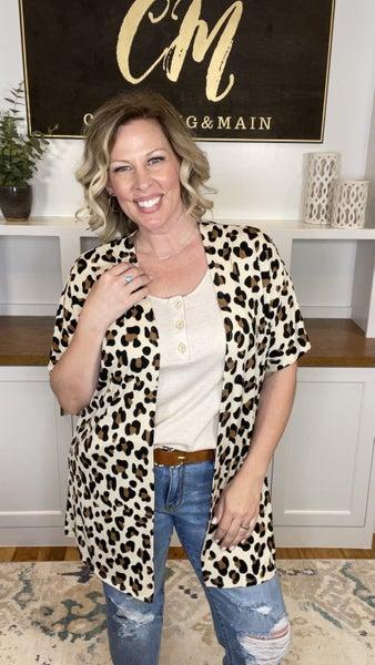 Love Me Some Leopard Short Sleeve Cardigan