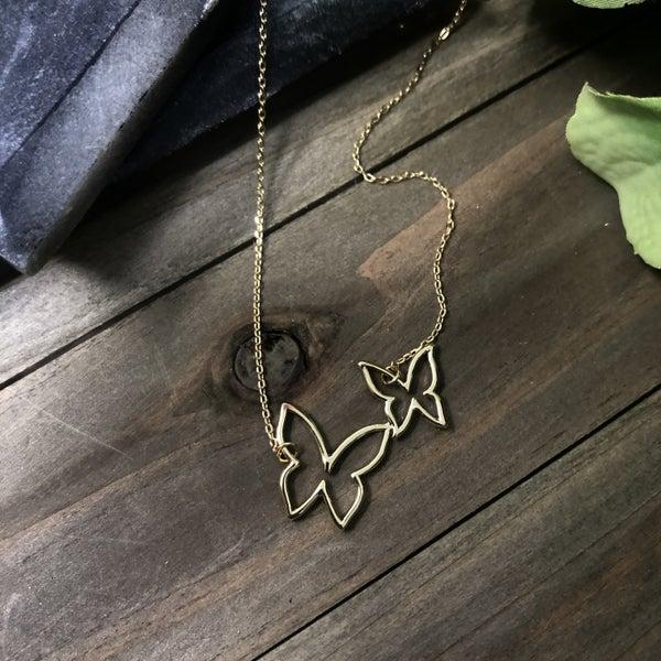 Best Friends Butterfly Necklace