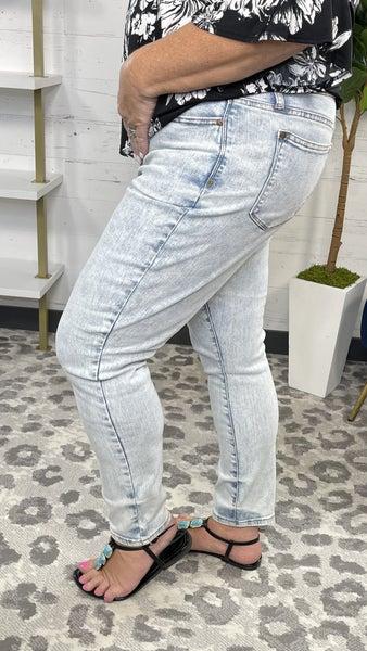 Livin' On a Prayer Judy Blue Slim Fit Acid Wash Jeans