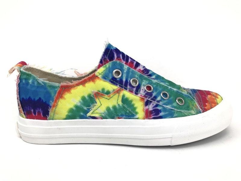 Play Along Rainbow Tie Dye Slip on Sneakers