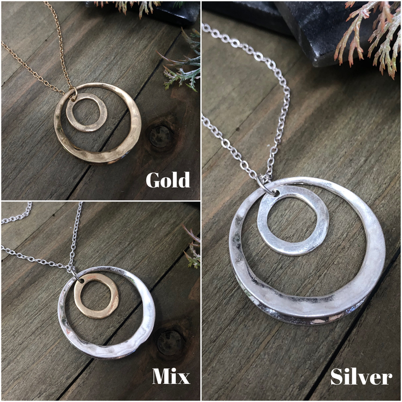 Layered Open Circle Necklace