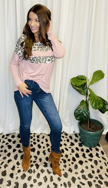 Leopard and Pink Top